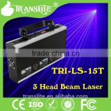 Powerful Dmx512 console Beam Laser 3 Head rgb laser Beam portable disco for Stage lighting