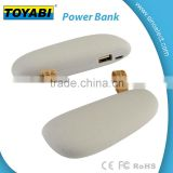 Frosted Cobblestone Universal Portable Stone Power Bank with Recharge battery to fast charging