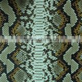 printing embossed snake skin Washed Pattern and PU Material decorative artificial leather for handbags