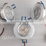 Aluminium 3w led ceiling lights high brightness and power fact