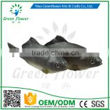 Greenflower 2016 Wholesale artificial PU fish black crucian carp China handmaking decoration