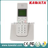 white elegant slim desktop cordless sim card gsm phone                                                                         Quality Choice