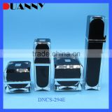 LUXURY EMPTY ACRYLIC SQUARE COSMETIC SET WITH BOTTLE AND JAR FOR MEN USE, ACRYLIC SQUARE BOTTLE