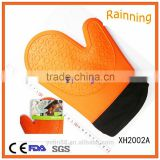 Hot sell promotional heat proof silicone short glove with cotton inside