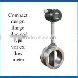 Compact design flange clamped Vortex flow meter with digital display