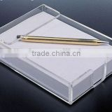 Transparent Acrylic Memo Holder Paper Box