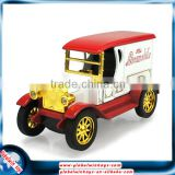 1:32 vintage car model with opening doors&headlights, pull-back alloy die cast car with music