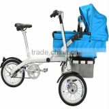 Two Seat Fashion Design Bike And Rain Cover Stroller Baby