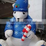 2014 high quality competitive price lovely inflatable polar bear for christmas