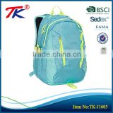 China manufacturer fashion outdoor sports light blue travelling backpack