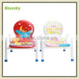 Stackable super baby cartoon foam sitting chair with PU leather BS-211
