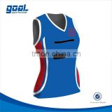 100% polyester new pattern athletic singlet netball jersey