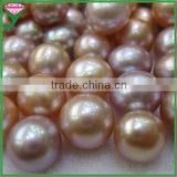 wholesale beautiful round pink/gold/red/purple freshwater pearls