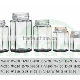 factory six hexagonal honey glass jars with screw tin lid wholesale                                                                         Quality Choice