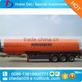 Tri Axle Acetic Acid Aluminium Alloy 35cbm Chemical Liquid Tanker Semi Trailer,35 Ton Chemical Liquid Tank