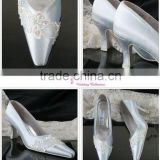 lace and beading WS-056 hot sell simple bridal wedding shose