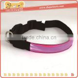 Led flashing dog collar ,CC141 new coming safety luminous glow pet dog led collar , reflective led pet necklace collar