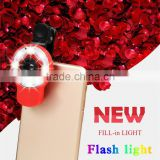smartphome selfie beauty-mode adding lens 9 in 1 Multi-functional Professional Selfie Flash fill led light wide-angle lens