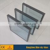 5 mm clear glass + 12 A + 5mm low-e insulated tempered glass price per square for curtain wall with CE