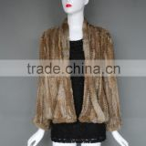 High Quality knitted Rabbit Fur Vest & The Latest Women Fashionable Clothes/Fur Coat For Women