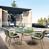 Anti-UV Garden Furniture Wicker Resin Outdoor Dining table Set                                                                         Quality Choice
