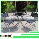 Garden Furniture Balcony Furntiure 3pc metal folding table and chair set