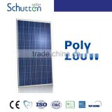 hot sales polycrystalline solar panel poly 260 A grade cell (yingli or canadian) Schutten Solar