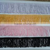 6.5 CM black rayon Chainette Fringe,rayon fringe , brush bullion fringe ,for dance dress