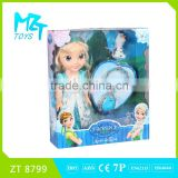 2015 New !Eco-friendly PVC14 Inch Princess Barbie Doll+Small Olaf+Necklace,with Crystal eyes
