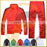 Name Branded Wholesale Tricot Tracksuit For Men,Red Color Training Suit
