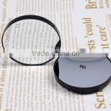 Black Round Shape Portable Magnifying Mirror With Two Suction Cups 10X Magnification Makeup Mirror