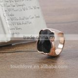 Touch Love Wholesale Fashion Rings Jewelry , Latest Rose Gold Bear Ring Designs ,Titanium Silver 316l Stainless Steel Rings