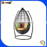 ZT-6013S outdoor egg shape cane swing bed