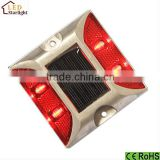 IP68 waterproof solar led road reflector/solar flashing road cat eye/aluminum solar road stud
