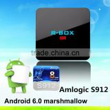 2016 install free play store app R-BOX amlogic s912 BT4.0 Octa-core android 6.0 marshmallow tv box