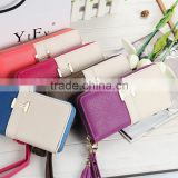 New design leather wallet women genuine leather wallet womens ladies wallet ladies pars hand set bag genuine wal