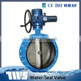 DN50-DN2000 PN16 Cast Iron Solf Sealing Electric Double Flanged Concentic Butterfly Valve