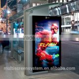 42 inch 1500 nits outdoor lcd monitor, digital bus stop signage,digital outdoor advertising