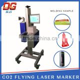 portable mini inverter arc welding machine laser CO2 optical color flying laser marking machine
