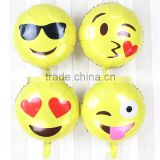 2016 Fashion Whatspp emoji cartoon Inflatable balloon, foil/aluminum cartoon balloon,emoji balloon for party