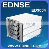 "EDNSE 3U Network storage kit ED3004 4x3.5"" SATA Hot Swap into 3 x 5.25"" Drive Bays sata1/2/3 and sas HDD trays Hot-swap 6GB/s"