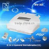 new products 2016 innovative product ideas X8 8IN1 micro dermabrasion machine with ultrasound and skin scrubber