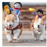 2015 Creative Riding Horse Dog Costume Novelty Pet Clothes Cowboy Dog Clothing