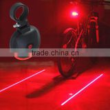 3 LED Lamps Waterproof Cycling Seatpost BikeTaillight Warning Flashing Light with Dual Laser Lines for Bicycle Accessories