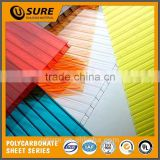 25 year guarantee polycarbonate honeycomb sheet with uv production pc hollow sheet for motor shed