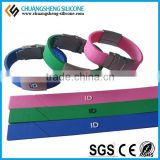 Clear/ Bulk/Disposable metal silicon ID bracelets