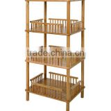 Bamboo bathroom rack