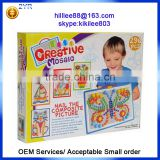 296 pcs creative mosaic Educational Toys Type DIY beads sets nail the composite picture