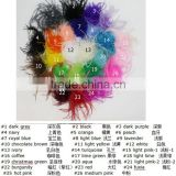 lovely straight ostrich feather power puff for decoration