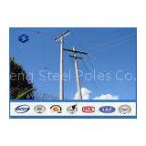 Burial Type Galvanized tubular steel electric utility pole 14m Once forming without joint